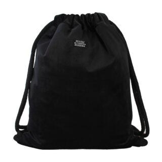 welurowy plecak worek czarny