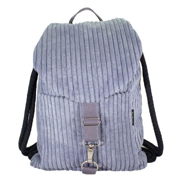 Sztruksowy plecak błękit
