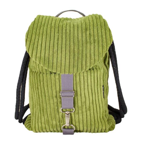 Sztruksowy plecak zieleń