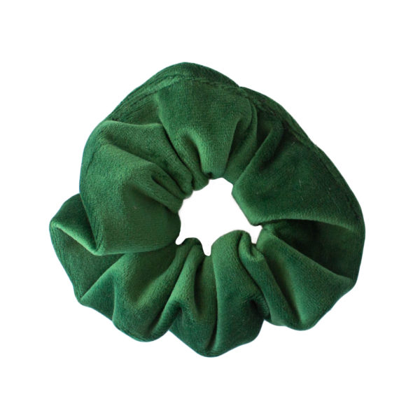 Welurowa gumka zielona