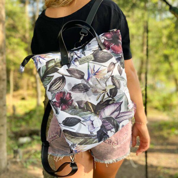 Torbo plecak 2w1 kwiaty