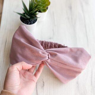 Bawełniana opaska do włosów róż