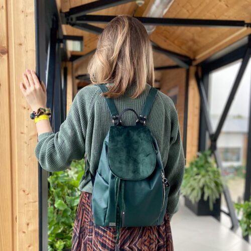 Ekoskóra plecak premium zielony