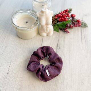 Lniana gumka ciemny fiolet