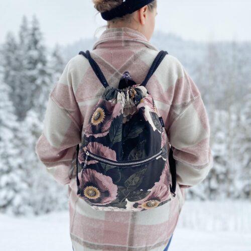 Welurowy plecak worek premium maki