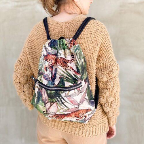 Welurowy plecak worek premium jungle