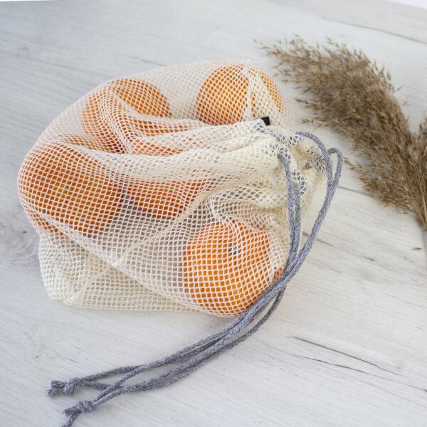 2 - pak woreczków bawełnianych z siatki