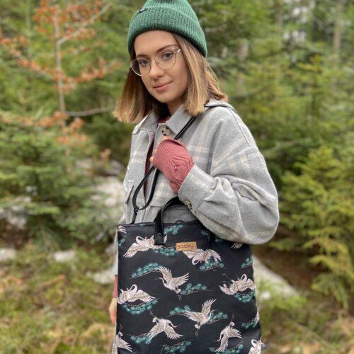 Torbo plecak 2w1 żurawie