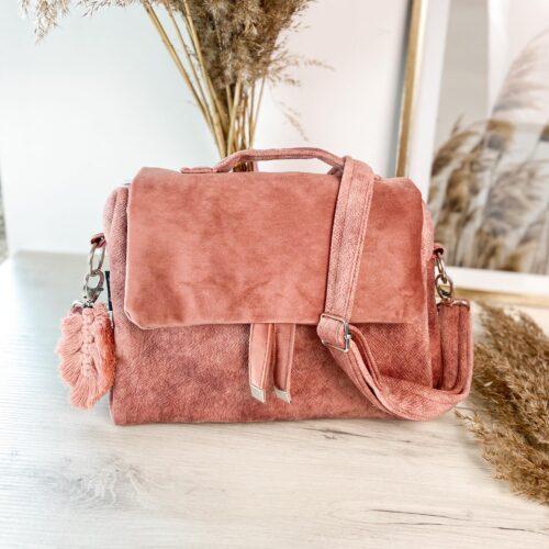 Torebka mini kuferek róż