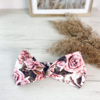 Bawełniana opaska do włosów róże