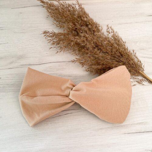 Bawełniana opaska do włosów beż